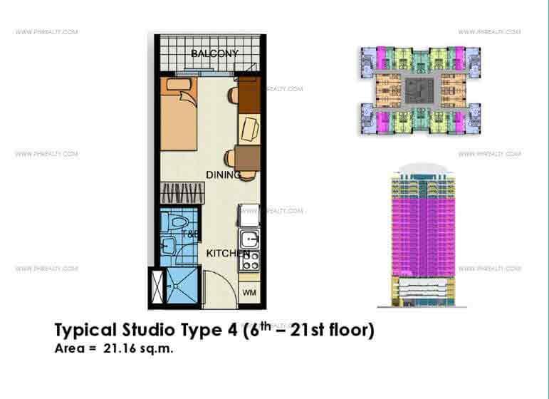 Typical Studio Unit Type 4