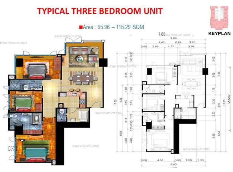 Typical Three Bedroom Unit