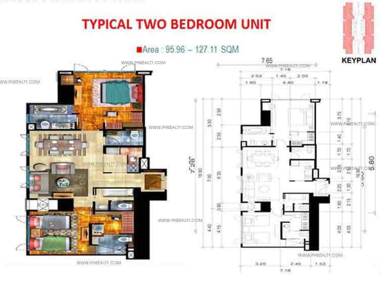 Typical Two Bedroom Unit