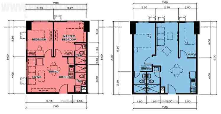 Typical Two Bedroom Unit Plan