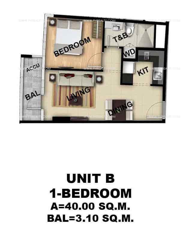 Unit B 1 - Bedroom