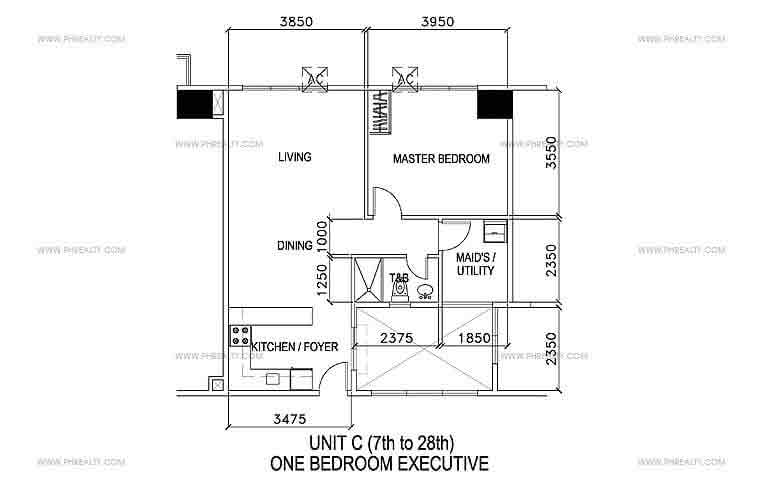 Unit C- One Bedroom Executive
