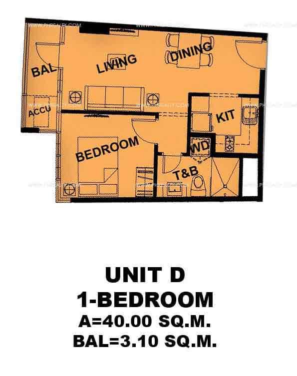 Unit D 1 - Bedroom