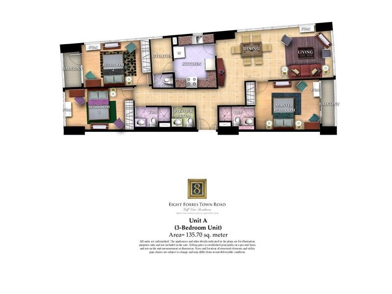 Unit A ( 3 - Bedroom Unit )