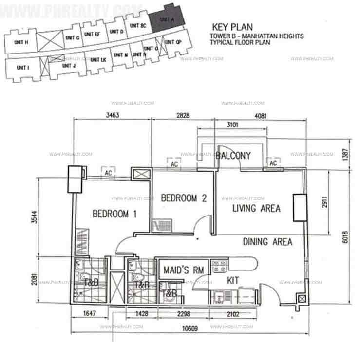 Unit A With BAlcony 2 Bedroom