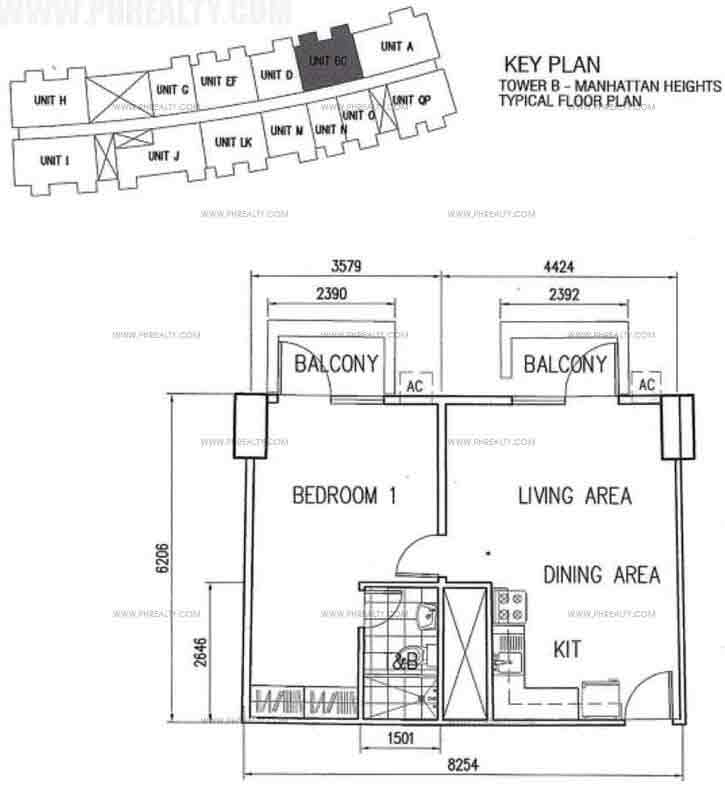 Unit BC With BAlcony 1 Bedroom