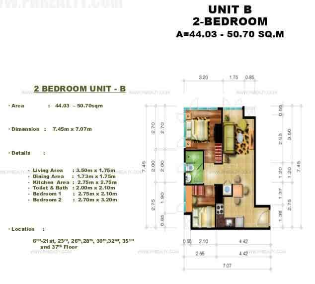 Unit B 2 - Bedroom