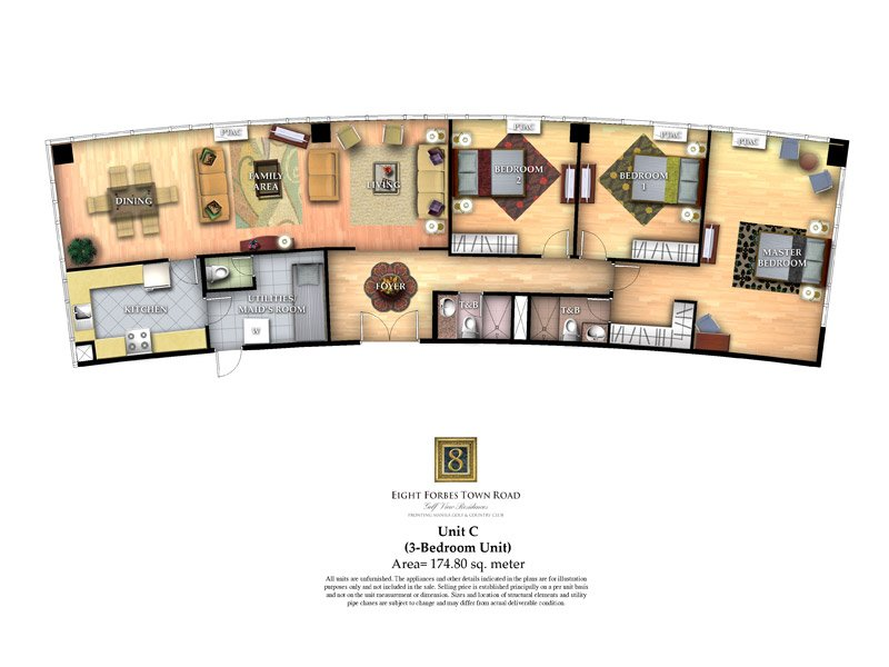 Unit C ( 3 - Bedroom Unit )