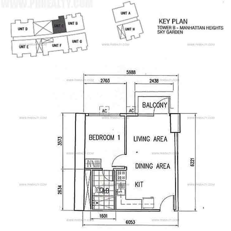 Unit C With BAlcony 1 Bedroom