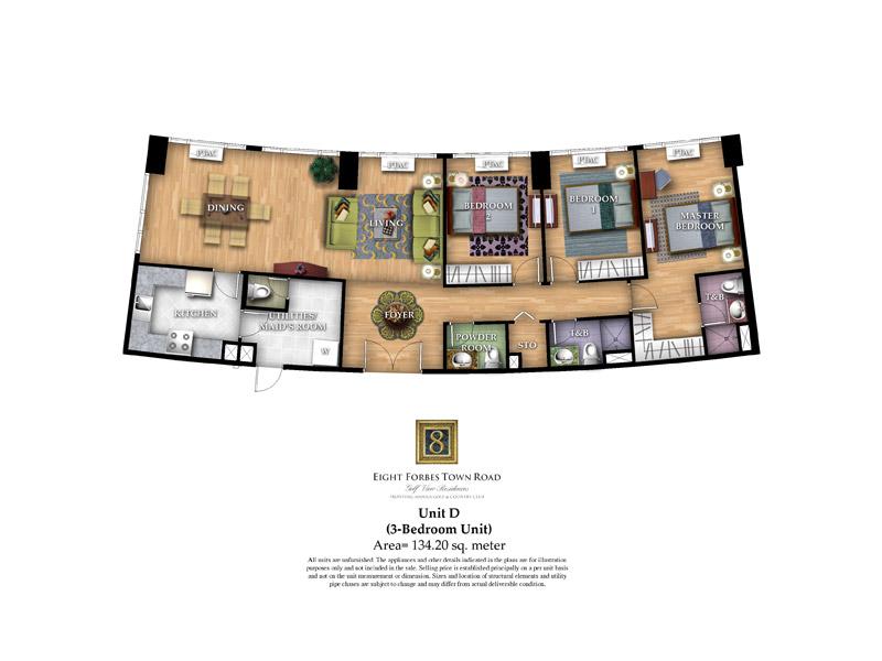 Unit D ( 3 - Bedroom Unit )