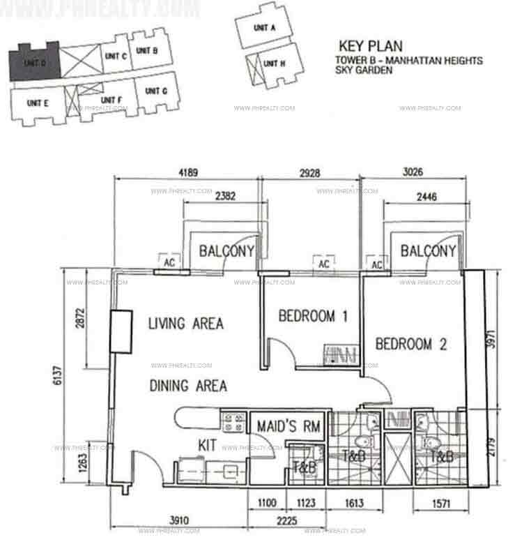 Unit D With BAlcony 2 Bedroom
