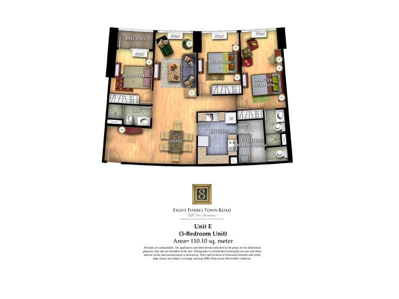 Unit E ( 3 - Bedroom Unit )