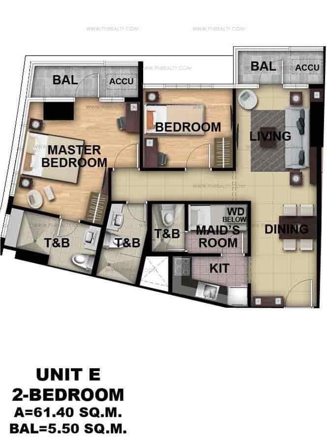 Unit E 2 - Bedroom