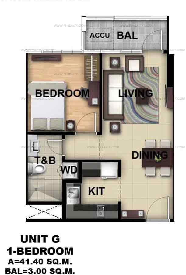 Unit G 1 - Bedroom