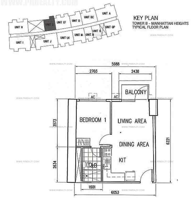 Unit G With BAlcony 1 Bedroom