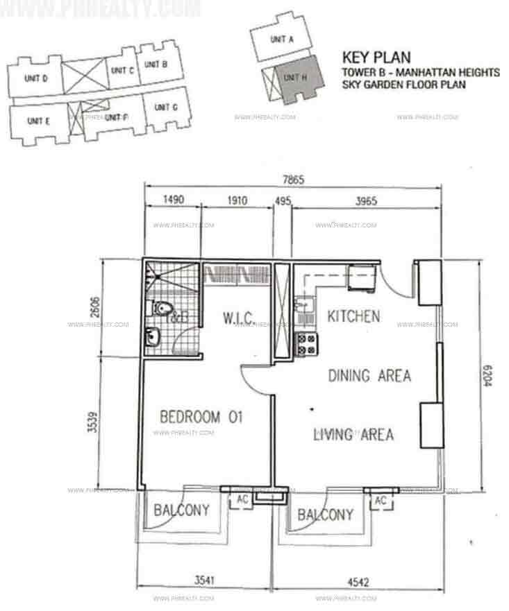 Unit H With BAlcony 1 Bedroom