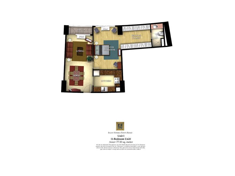 Unit I ( 1 - Bedroom Unit )