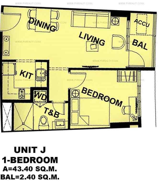 Unit J 1 - Bedroom