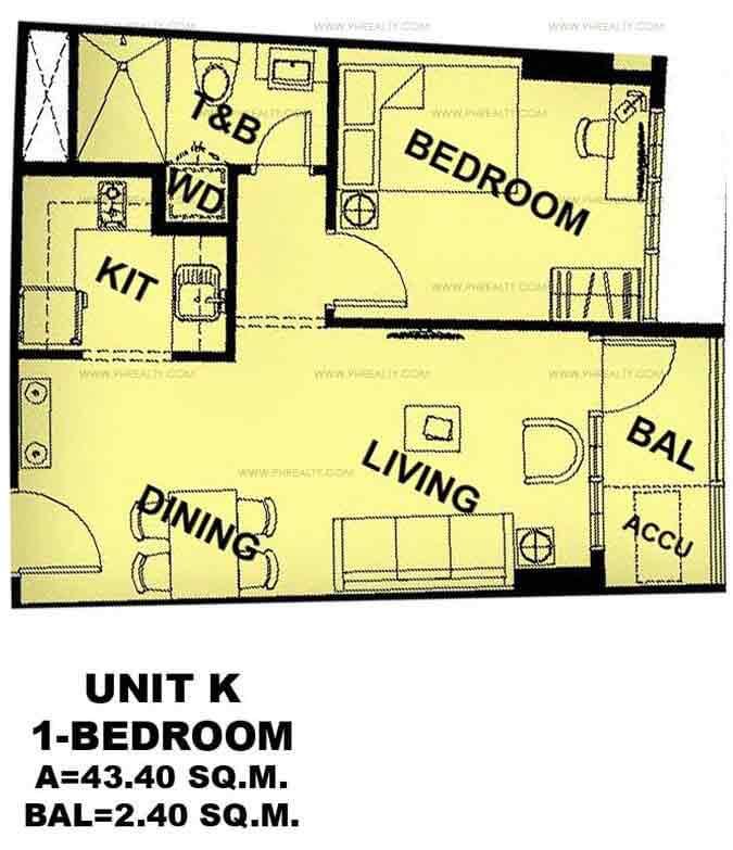 Unit K 1 - Bedroom