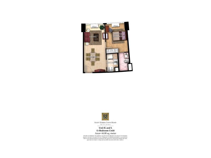 Unit K & L ( 1 - Bedroom Unit )