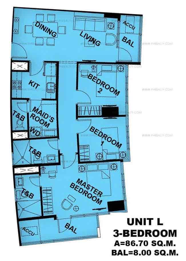 Unit L 3 - Bedroom