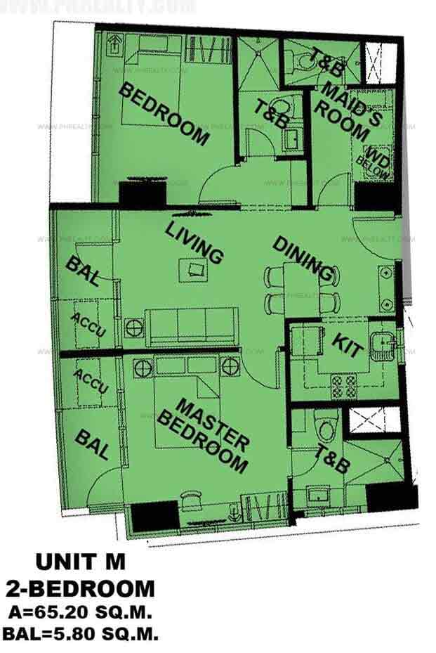 Unit M 2 - Bedroom