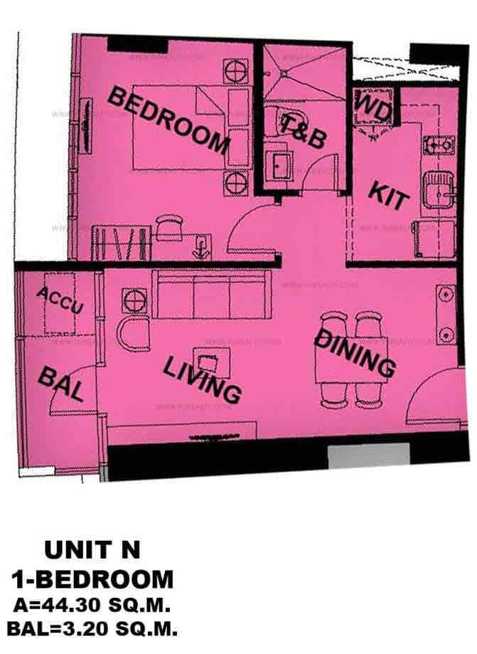 Unit N 1 - Bedroom
