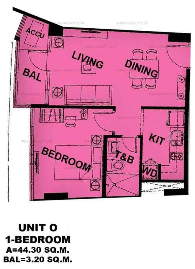 Unit O 1 - Bedroom