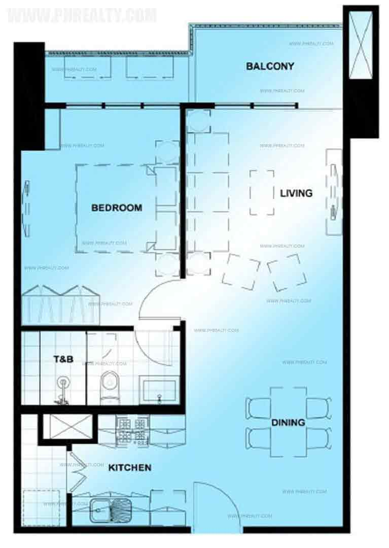 Unit Plan Typical One Bedroom Unit