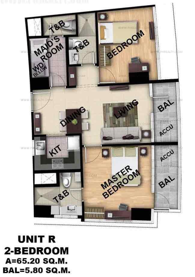 Unit R 2 - Bedroom