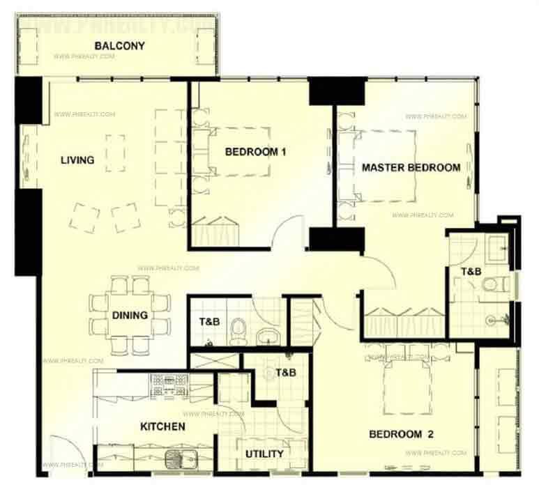 Unit Typical Three Bedroom Unit