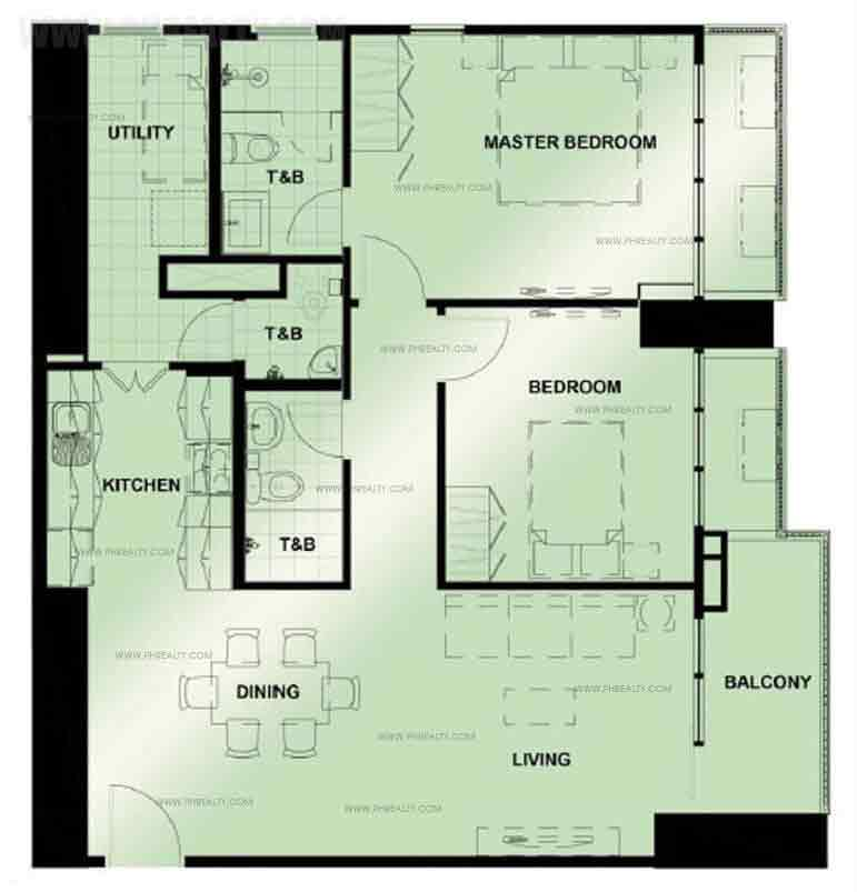 Unit Typical Two Bedroom Unit