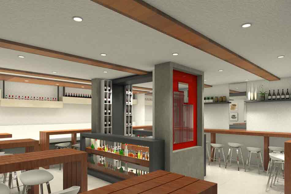 Pantry and Bar Area