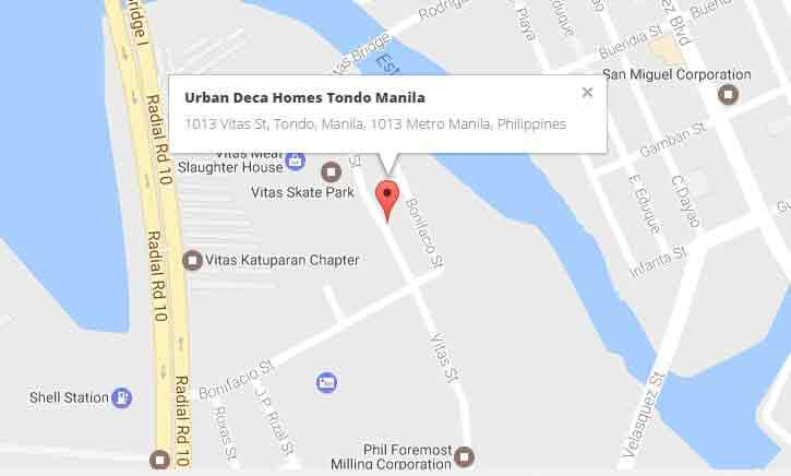 location address of deca homes urban deca homes tondo manila manila