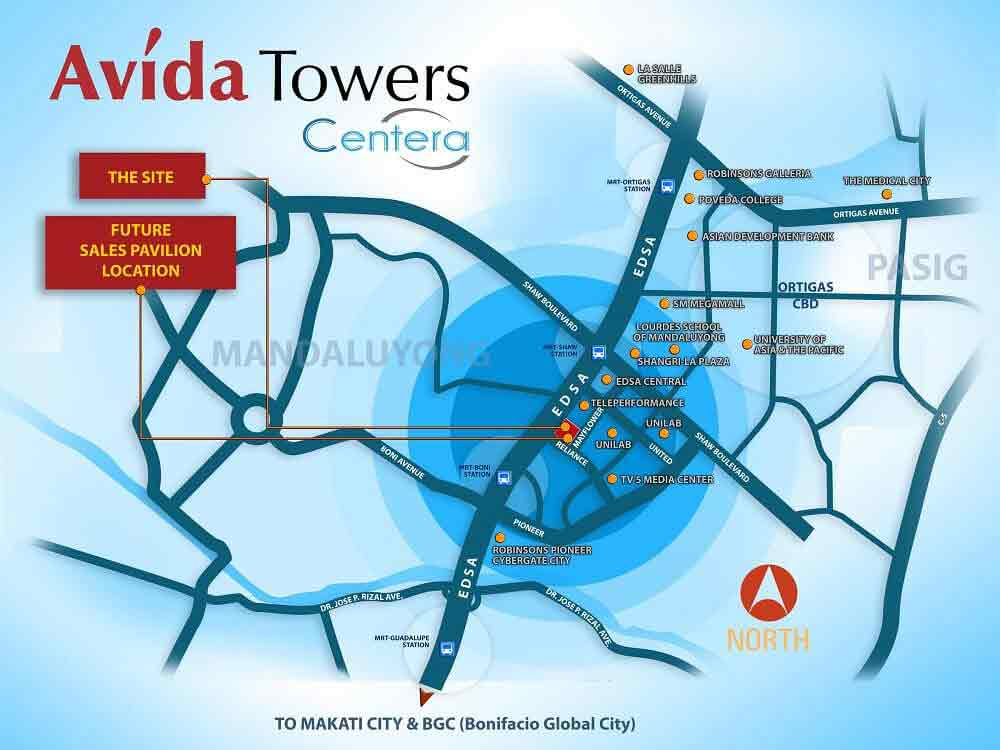 Avida Towers Centera Location