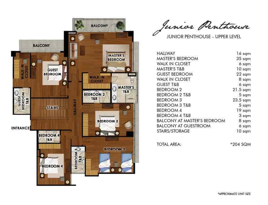Junior Penthouse - Upper Level