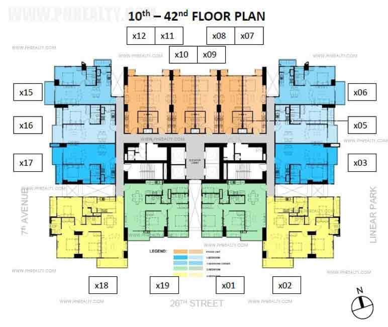 Verve Residences 10th-42nd Floor