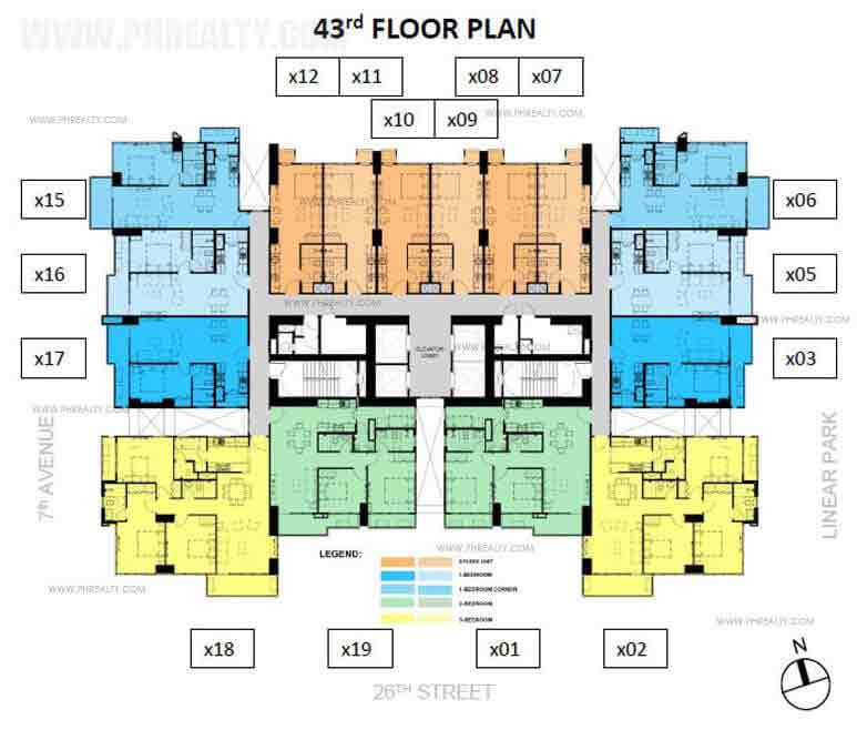 Verve Residences 43rd Floor