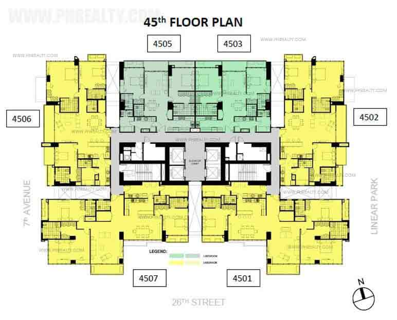 Verve Residences 45th Floor