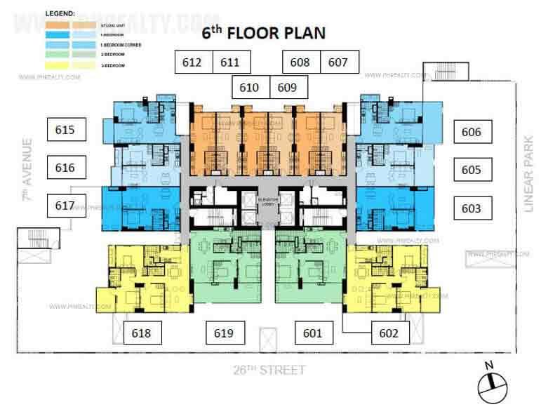 Verve Residences 6th Floor
