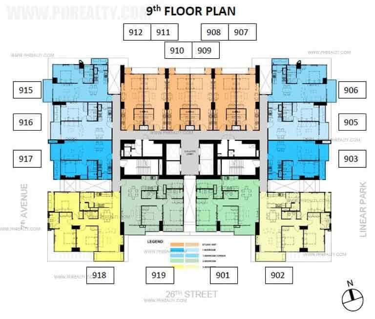 Verve Residences 9th Floor