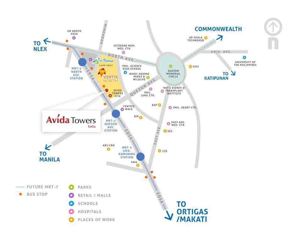 Avida Towers Sola Location