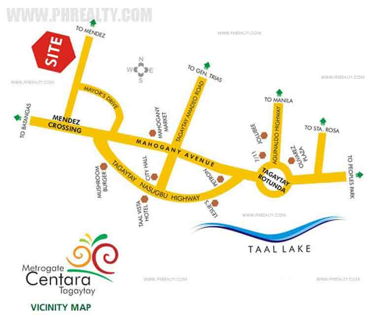 Metrogate Centara Tagaytay Location
