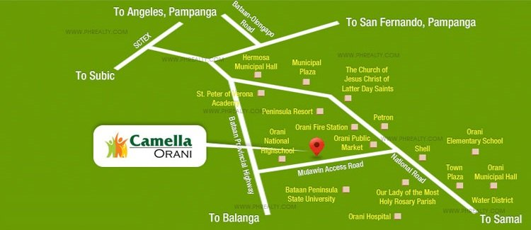 Camella Orani Location