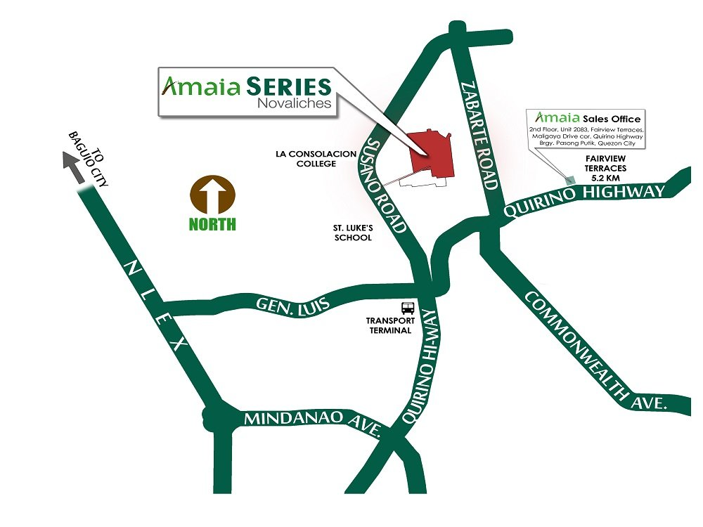 Amaia Series Novaliches Location