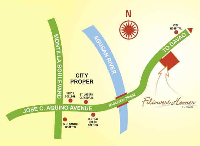 Filinvest Homes Butuan Location
