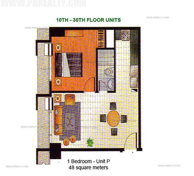 1 Bedroom Unit P