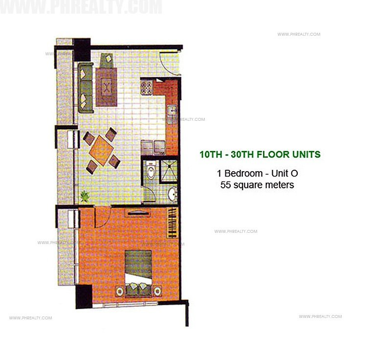 1 Bedroom Floor Unit