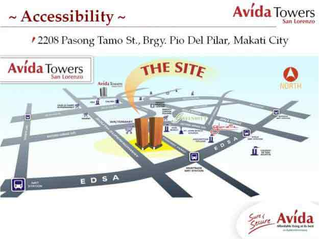 Avida Towers San Lorenzo Location