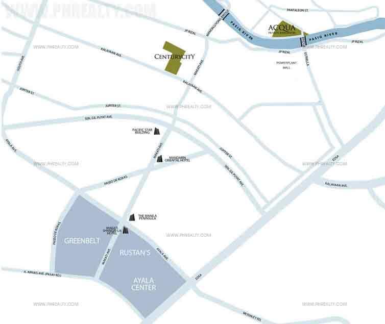Acqua Private Residences Location